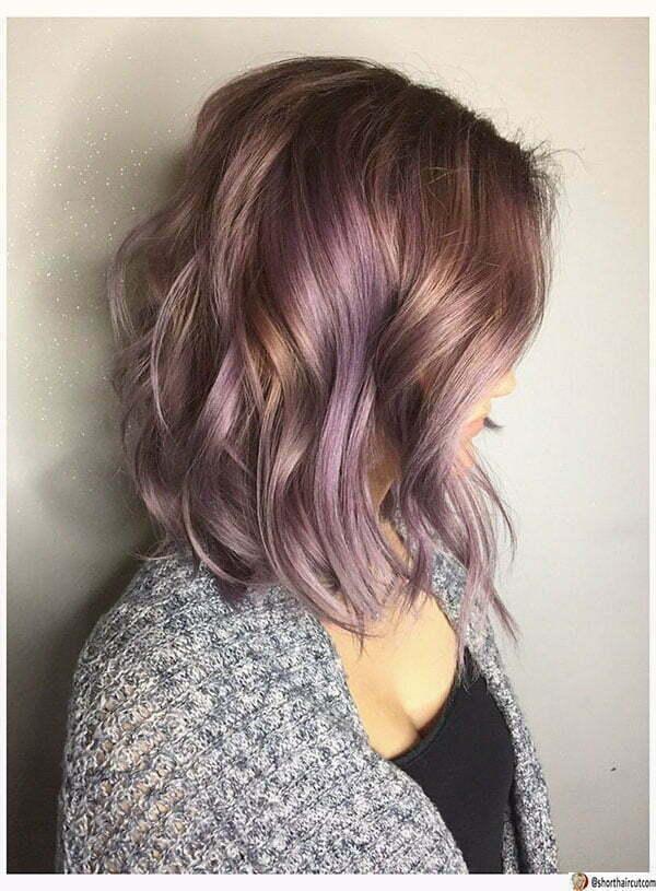 haircut purple