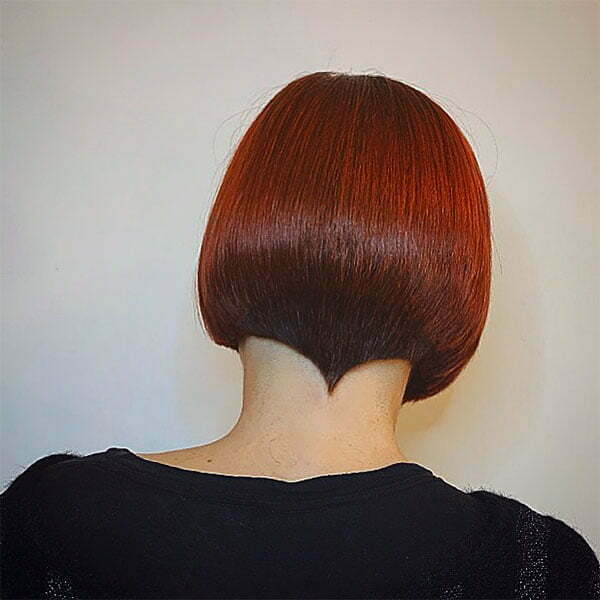 hairstyle red colour