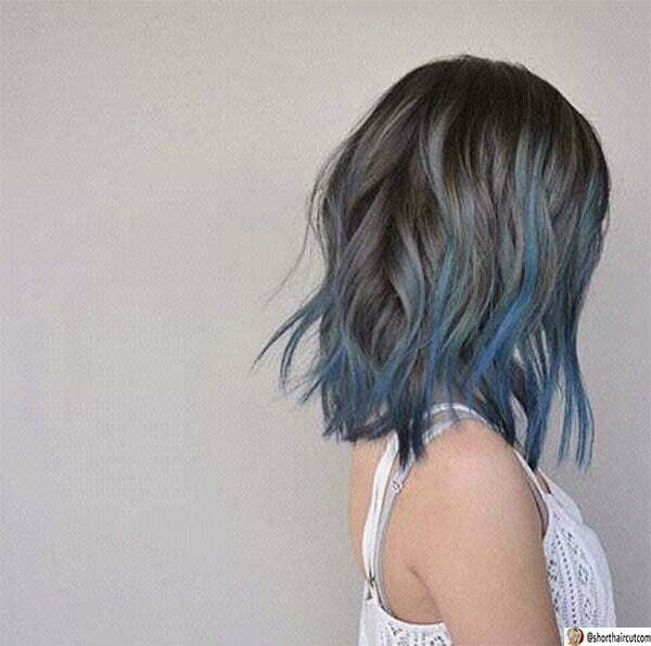 hairstyles for blue hair