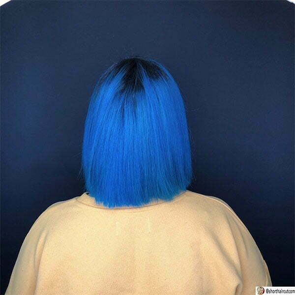 hairstyles for short blue hair