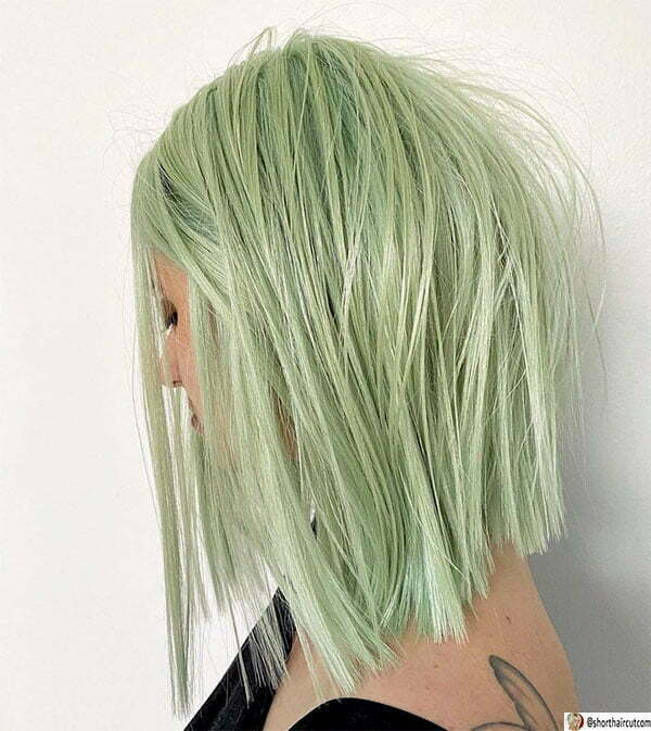 hairstyles for short green hair