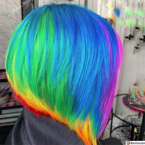 hairstyles with blue