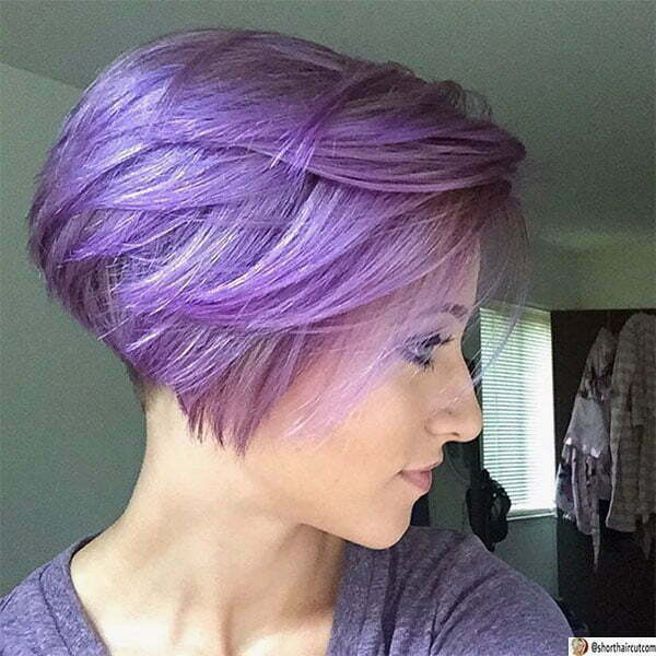 hairstyles with purple