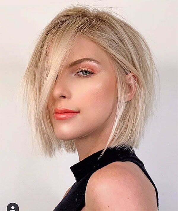 hot blonde short hair