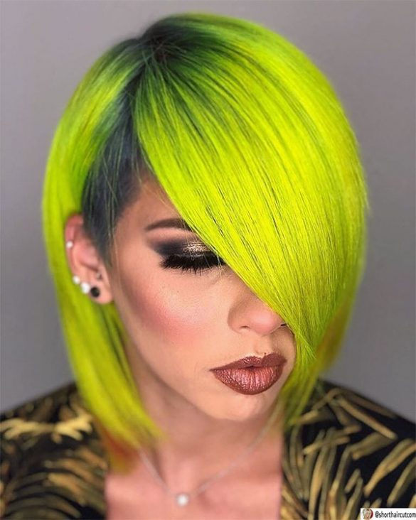 hot green hairstyles