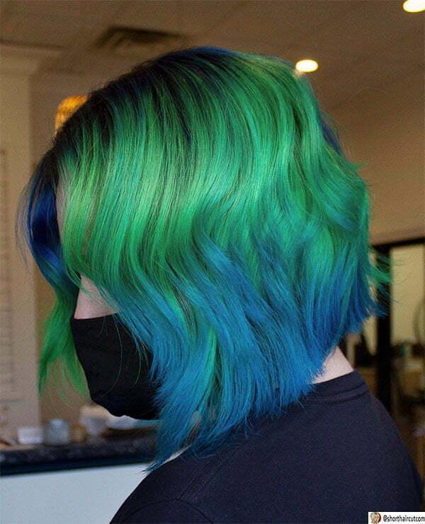 hot green short hair