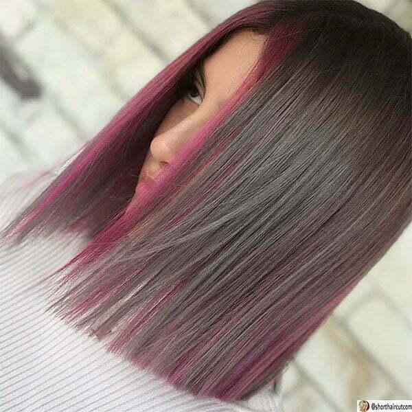 hot purple hairstyles