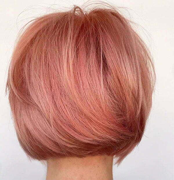 hot short pink hair