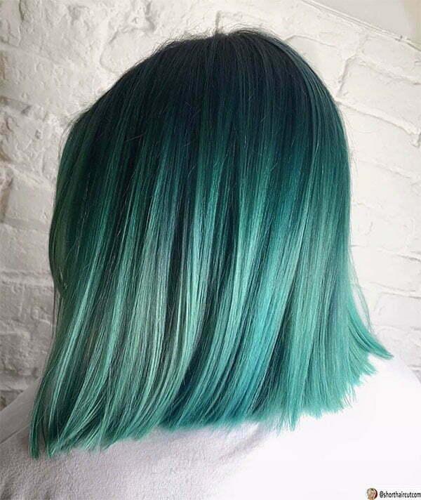 ladies short green hairstyles