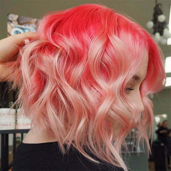 lady with pink hair