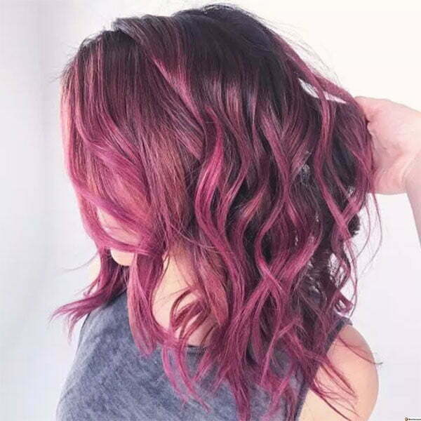 lady with purple hair