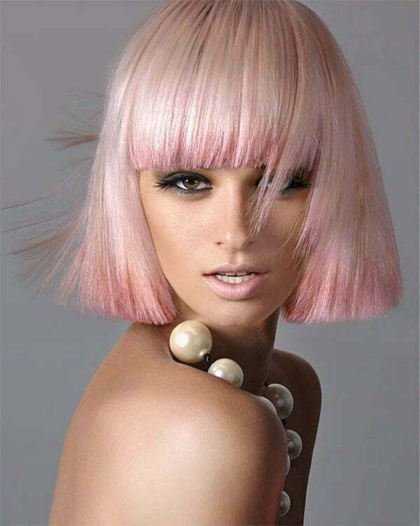 latest short pink hairstyles