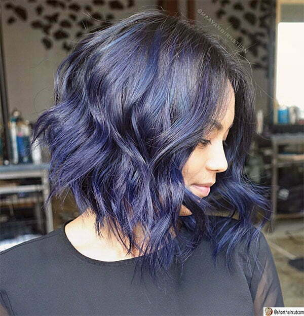 new blue hairstyles