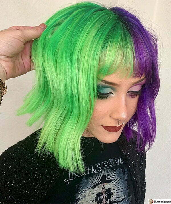 new green hairstyles