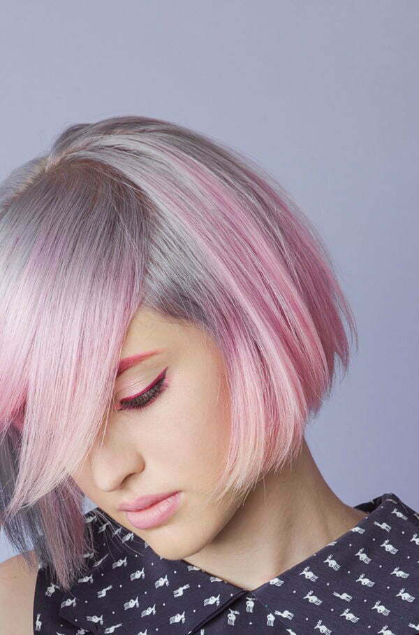new pink hairstyles