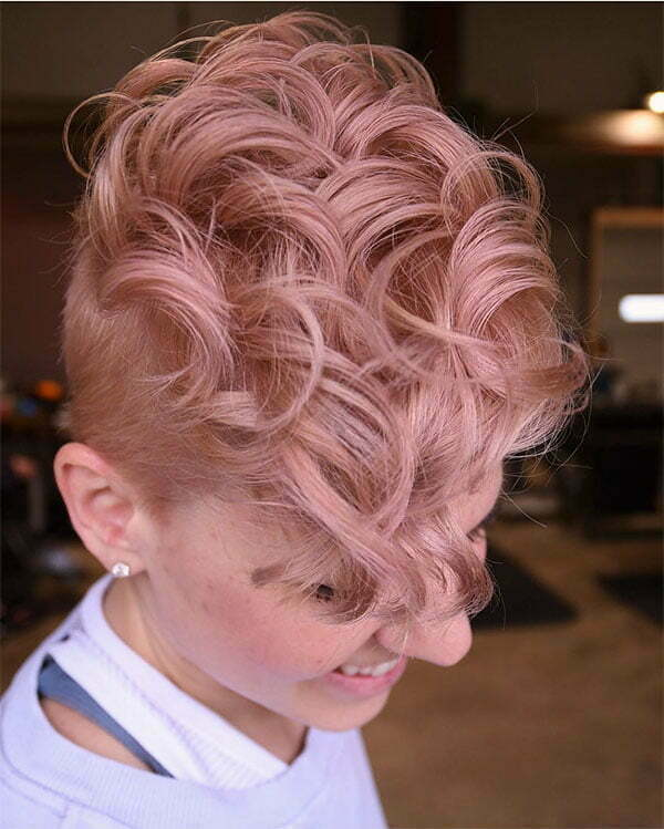 new short pink hairstyles