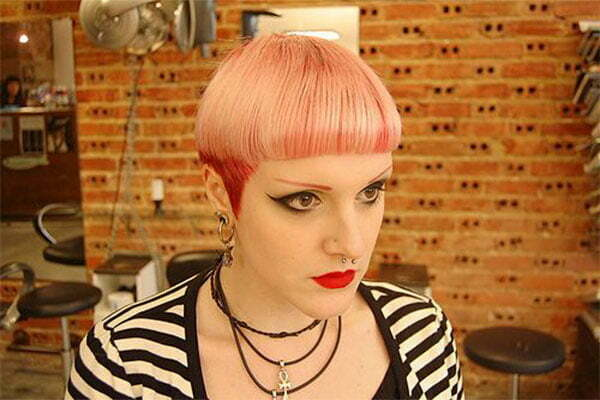 pics of short pink hairstyles