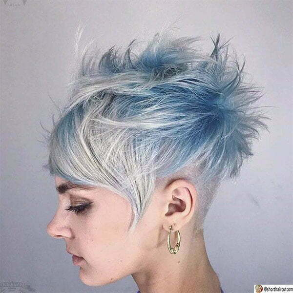 pictures of short blue haircuts