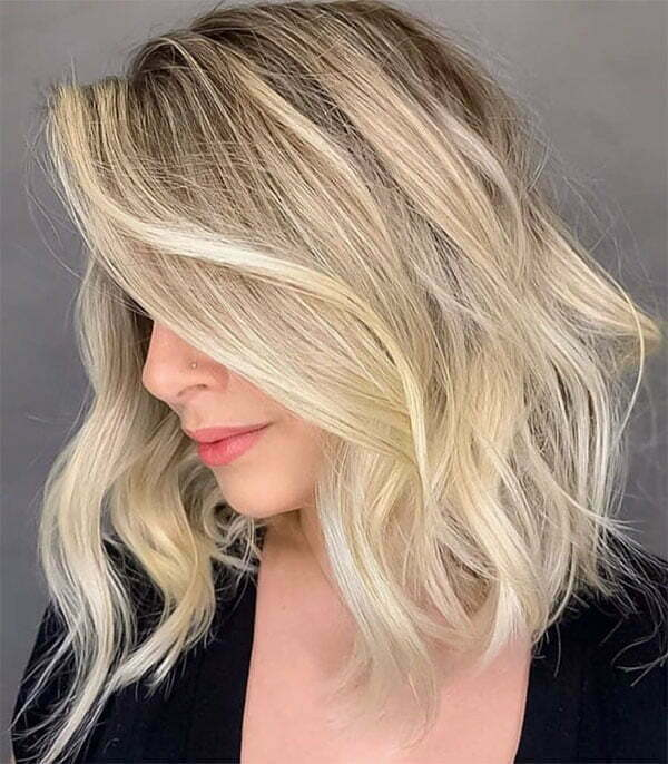 pictures of short wavy hairstyles 2021