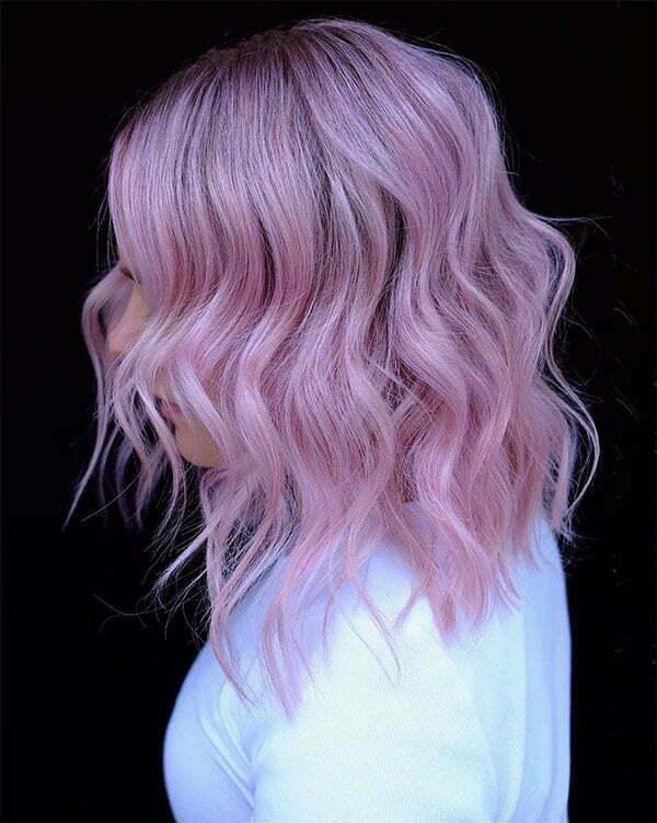 pink and short hair