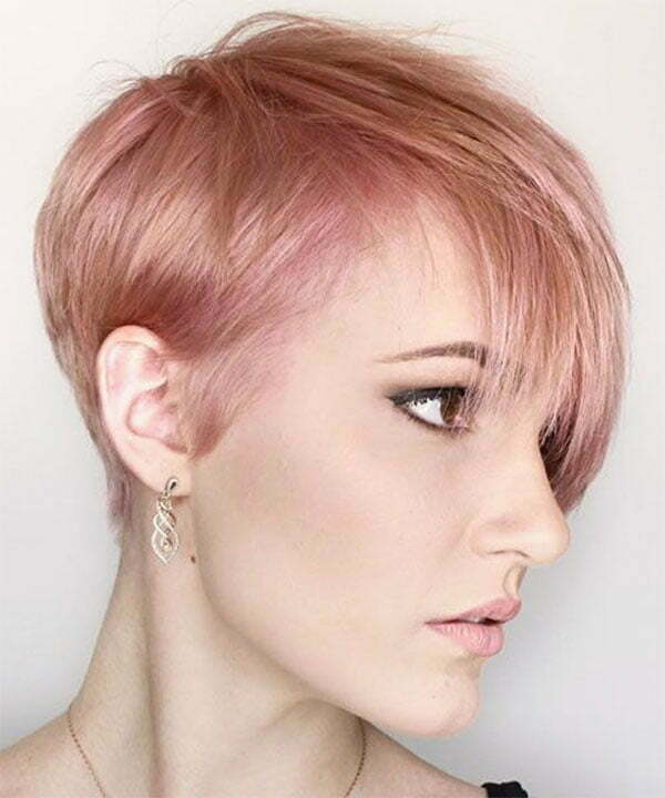 pink hair color ideas for short hair