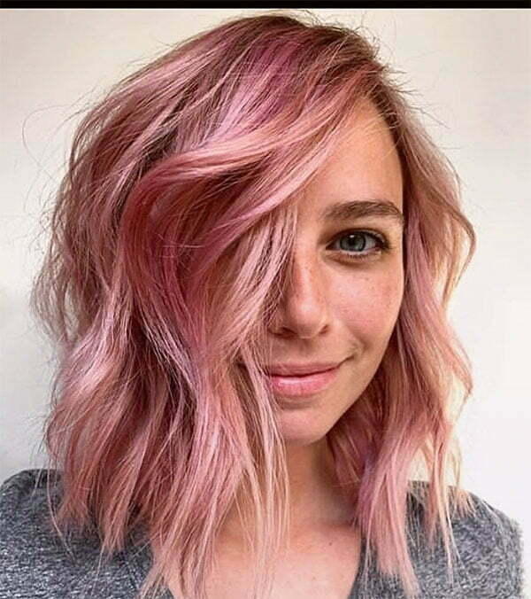 pink hair colors for short hair