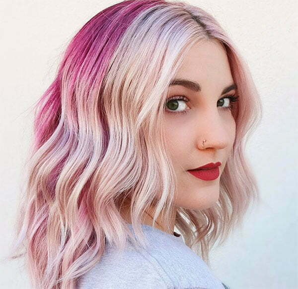 pink hair colors short styles