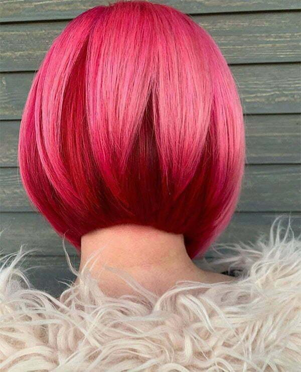 pink hair looks