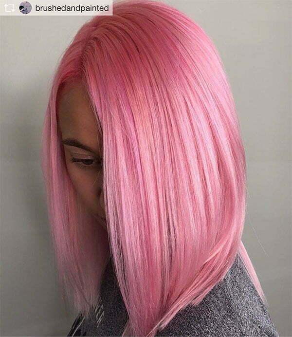 pink hair styles short