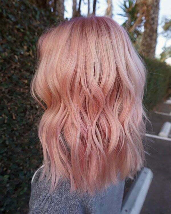 pink on short hair