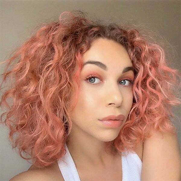 pink short hair cuts