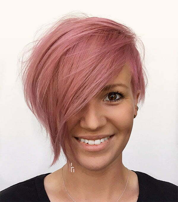 pink short hair pics