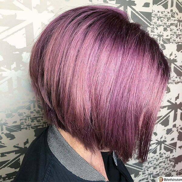 purple cut hair