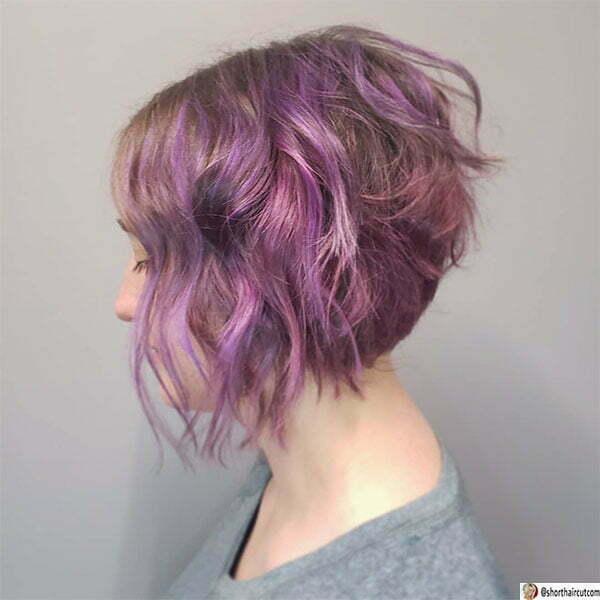 purple cute hairstyles