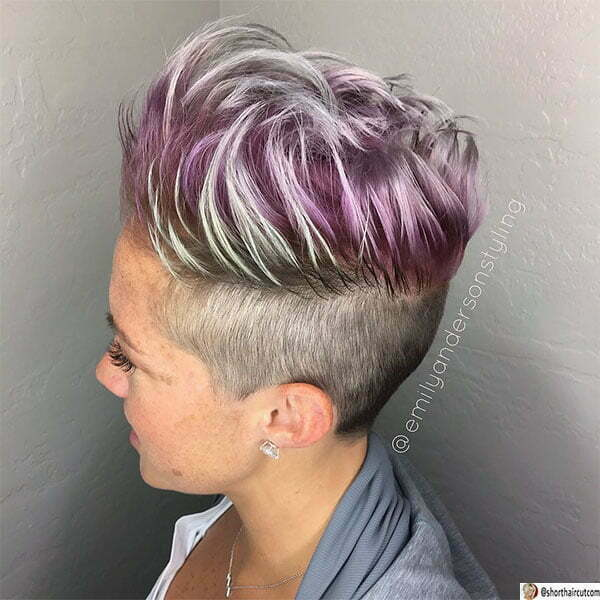 purple hair color for women