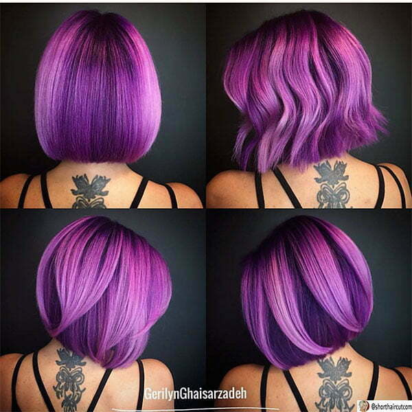 purple hair colors and styles