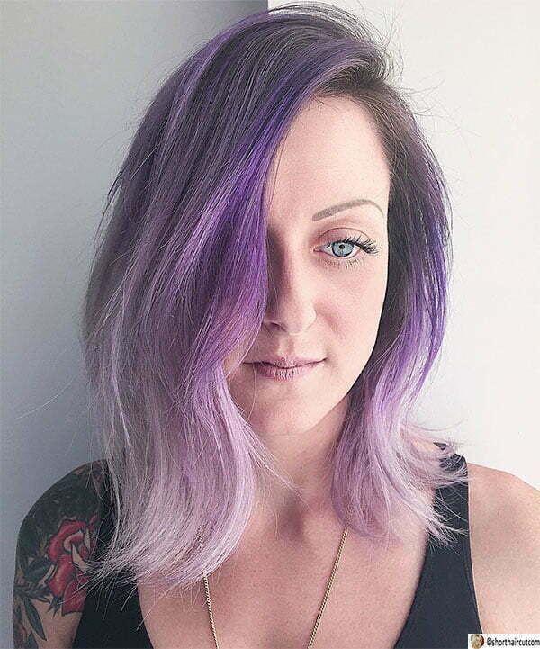purple hair for women