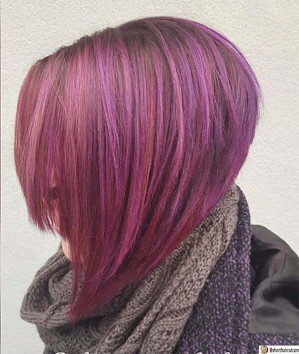 purple hair ideas for winter