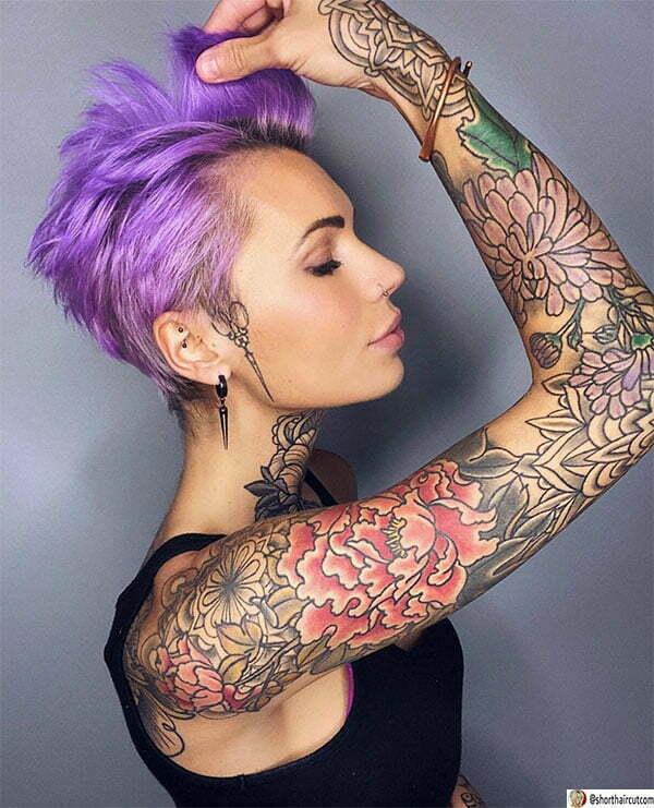 purple hair lady