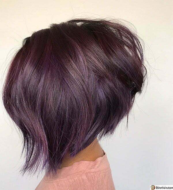 purple hair woman