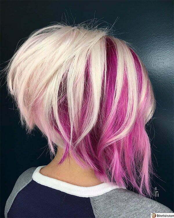 purple haircuts