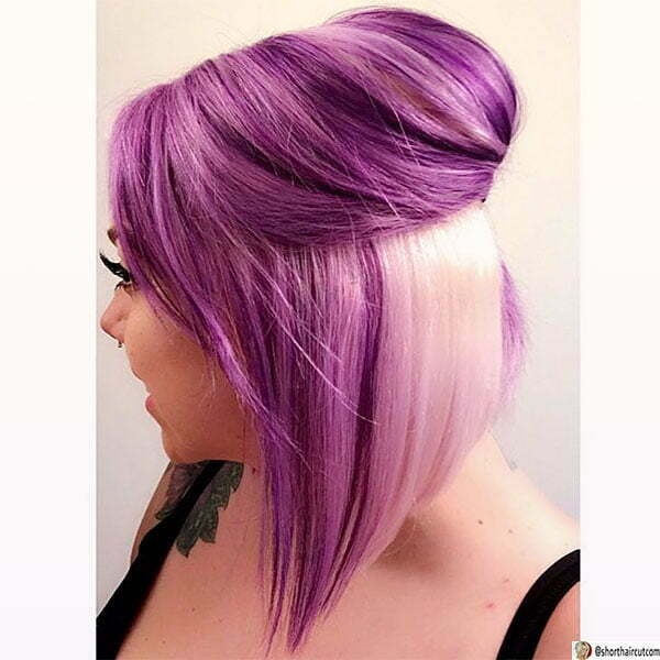 purple hairdos