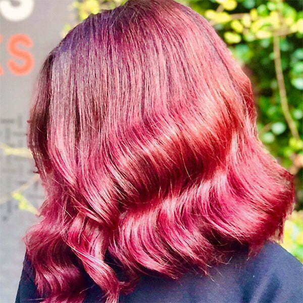 red color hair styles
