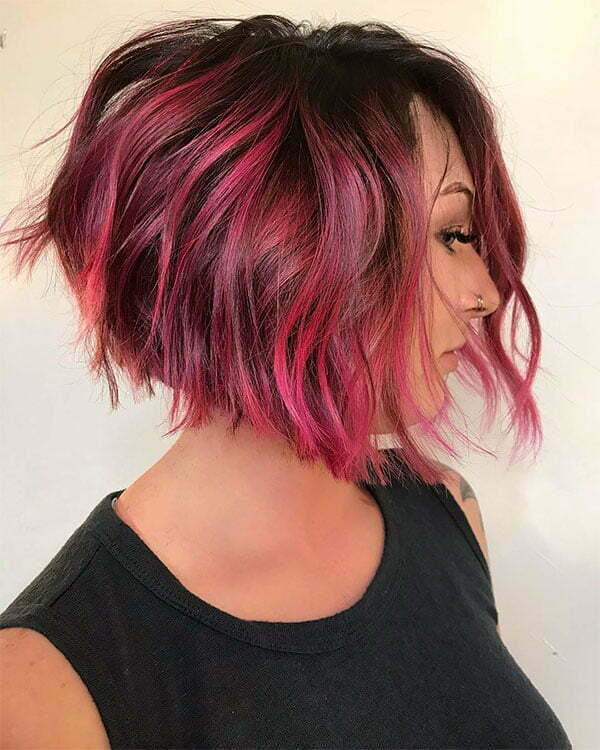 red color short hair