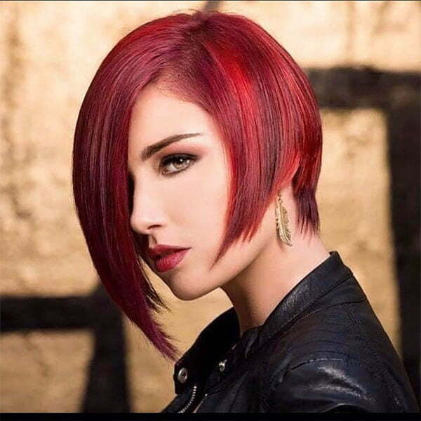 red colour hair style