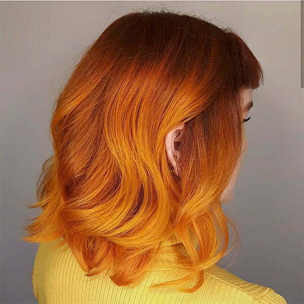 red hair and