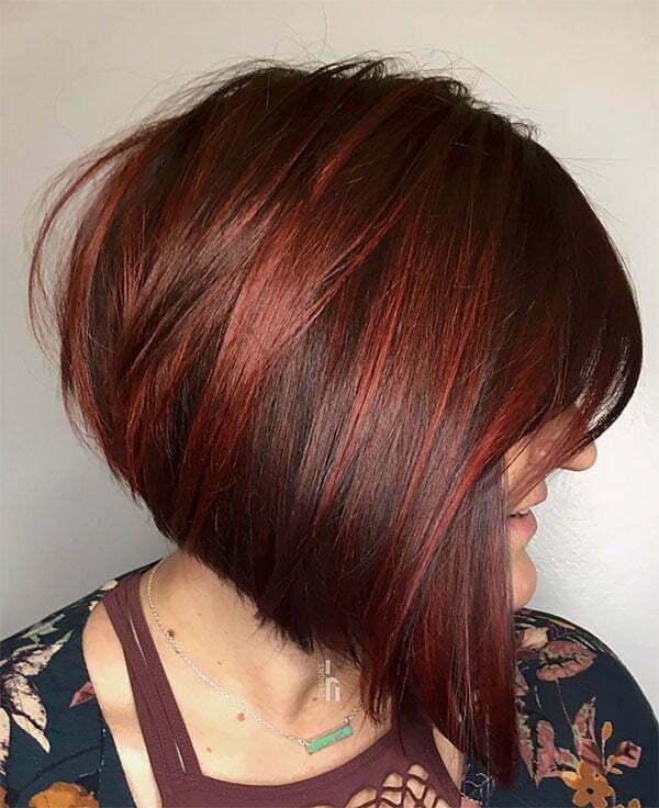 red haircut