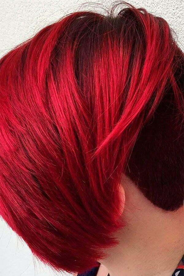 red short haircuts