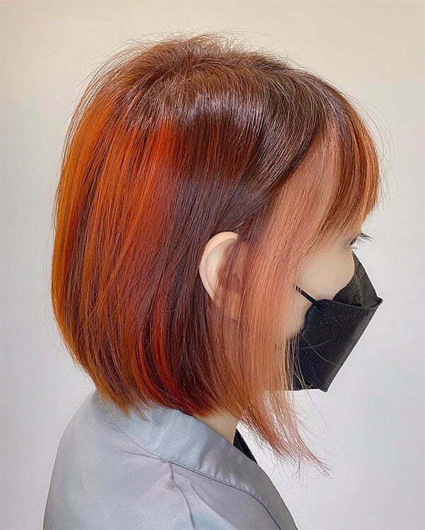 redhead short haircuts