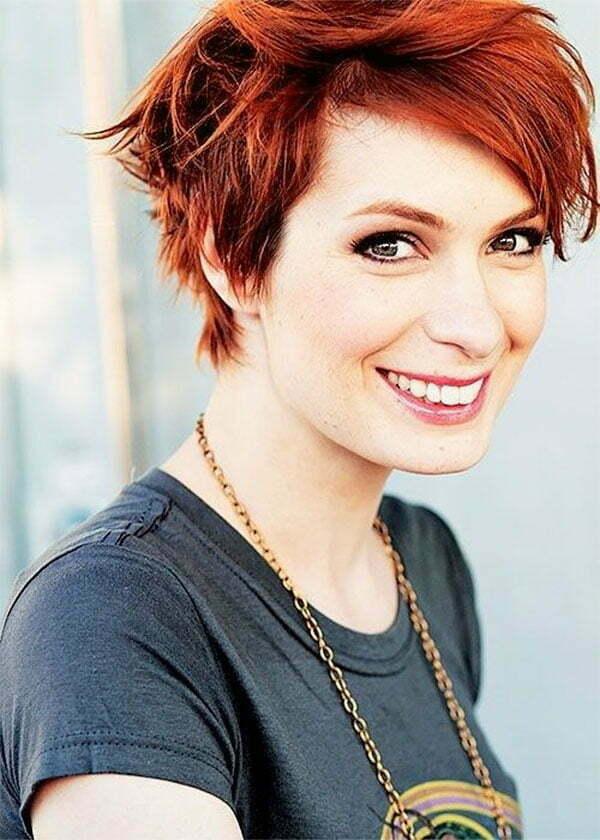 redhead short hairstyles